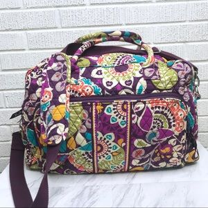 Vera Bradley Plum Crazy Grand Traveler Tote Bag